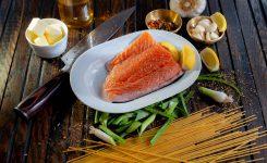 Filetes de salmón al horno